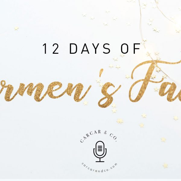 12 Days of Carmen's Faves Blog Header